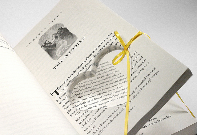 Harry Potter Deathly Hallows Ring Holder Hollow Book
