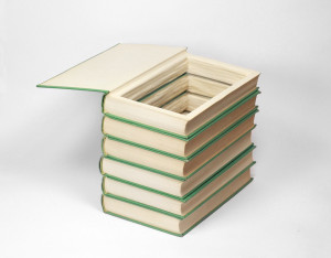 Vintage Hollow Book Stack