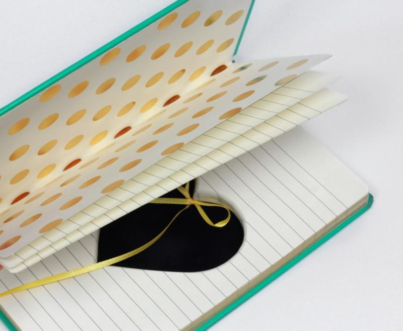 Handmade Ring Holder Hollow Book Kate Spade Journal